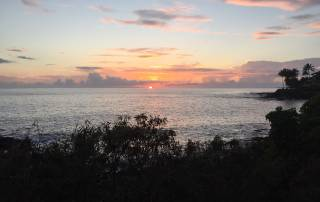 gorgeous sunset wall view from Koloa Landing