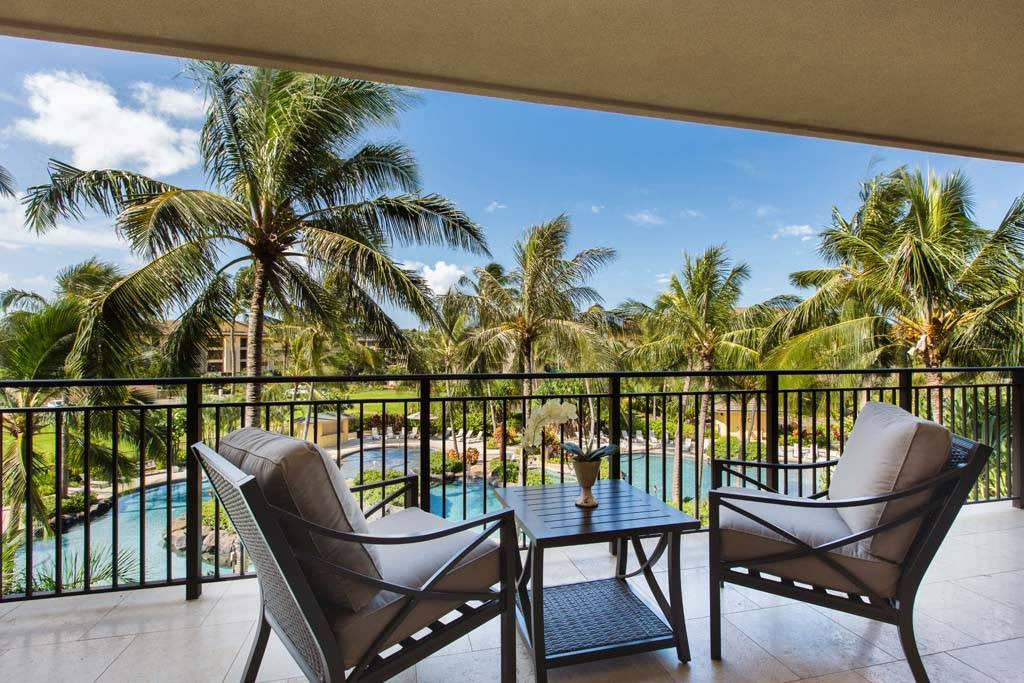 Expansive lanai on two bedroom villa